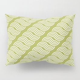 shortwave waves geometric pattern Pillow Sham