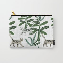 Cats and tropical plants in the jungle Carry-All Pouch