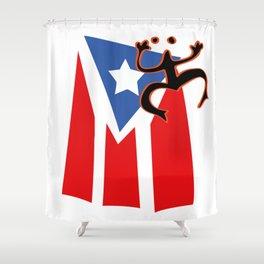 Mi bandera, Puerto Rico Shower Curtain