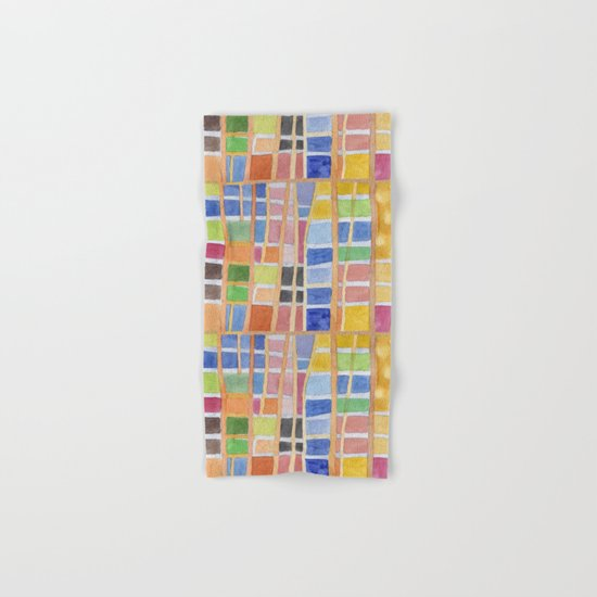Rectangle Pattern With Sticks Hand & Bath Towel