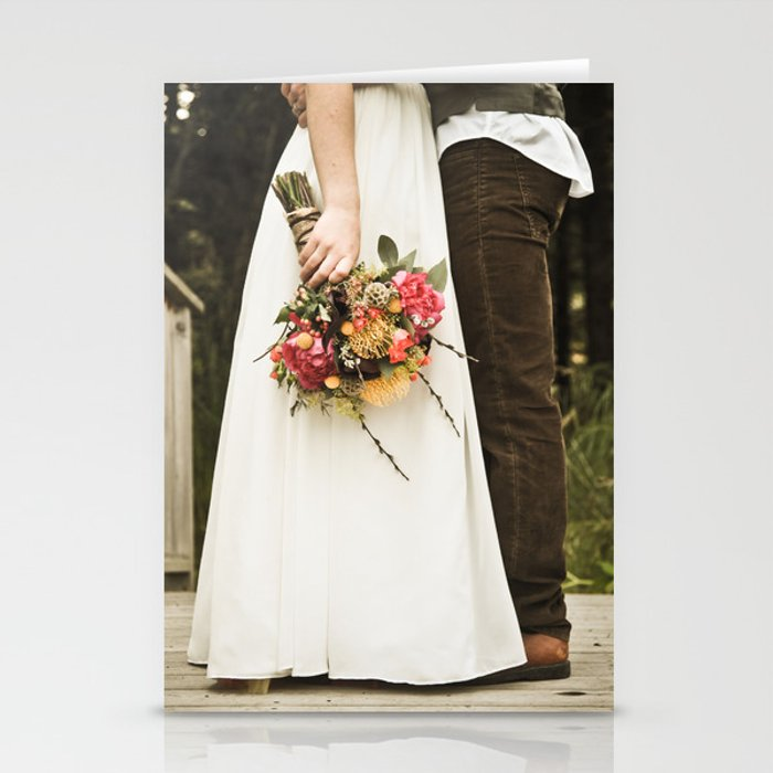 flowers on bridge Stationery Cards