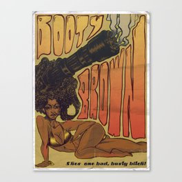 Booty Brown Canvas Print