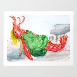 Diana Crawfish Art Print