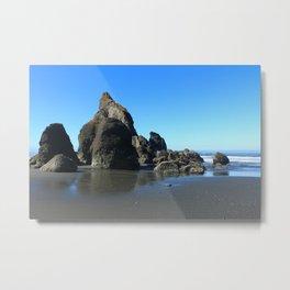 Sea Stacks Of Ruby Beach Metal Print