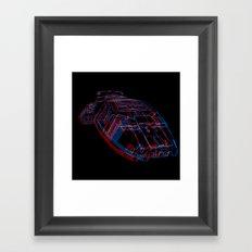 Classic Galactica 3D Framed Art Print