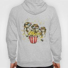 meerkats, popco T-shirt graphics. meerkats,  illustration with splash watercolor textured  Hoody