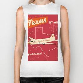Texas By air vintage poster Biker Tank