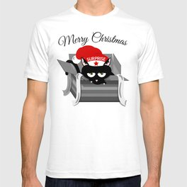 Naughty Cat Merry Christmas T-shirt