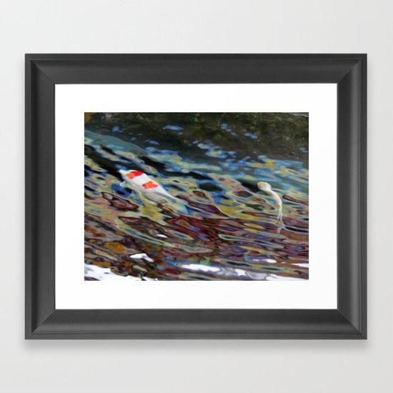 Watercolor Koi Framed Art Print