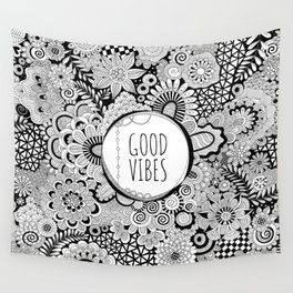 Good Vibes Doodle Wall Tapestry