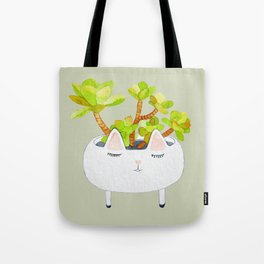Kawaii succulents Tote Bag