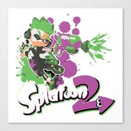 Splatoon 2 Purple - Inkling Boy Canvas Print