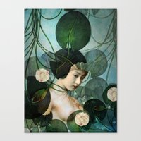 tangled Canvas Prints featuring Tangled by Catrin Welz-Stein