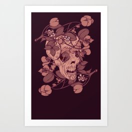 Rotting flowers Art Print