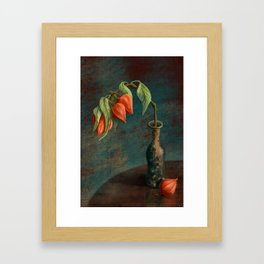 Stillife with Physalis Framed Art Print