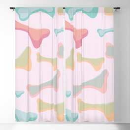 abstract bone Blackout Curtain