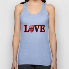 Love Red Skull The MUSEUM Zazzle Gifts Unisex Tank Top