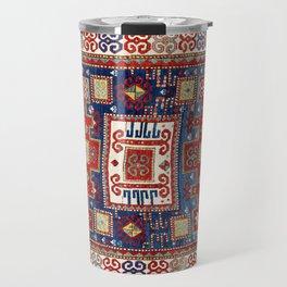 Karachov Kazak Caucasian Antique Carpet Print Travel Mug