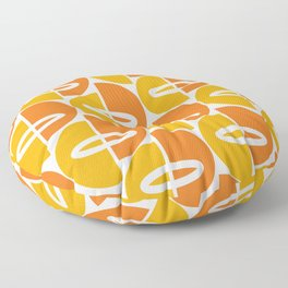 Mid Century Modern Orange Gold Floor Pillow