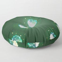 Galactic Snow Globes Floor Pillow