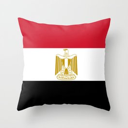 flag of egypt- Egyptian,nile,pyramid,pharaon,cleopatra,moses,cairo,alexandria. Throw Pillow