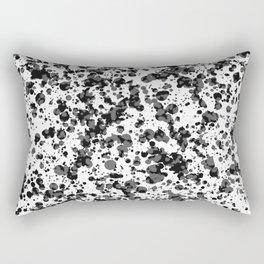 black splatter Rectangular Pillow