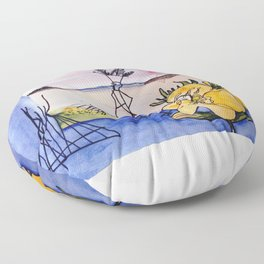 `GLOOSCAP'  From the Mic Macs, Canada Lege     by Kay Lipton Floor Pillow