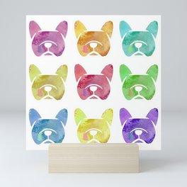 Watercolor French Bulldogs - Frenchie dogs - #frenchbulldogs Mini Art Print