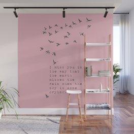 I miss you - Van Vuren Collection Wall Mural