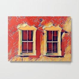 Santa Fe Wall and Window #4 Metal Print