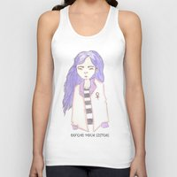 sisters Tank Tops featuring sisters by Megan Rhiannon