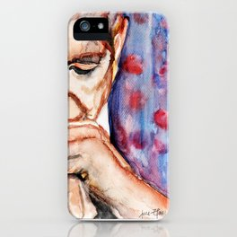 I'm Your Man, illustration by Ines Zgonc iPhone Case