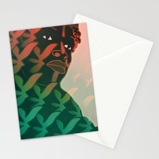 Ebony Green Stationery Cards