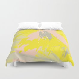 Lovely Summer - Abstract - Coral, Yellow, Sand Duvet Cover