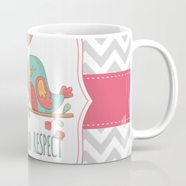 Chevron Love Birds Couple Coffee Mug