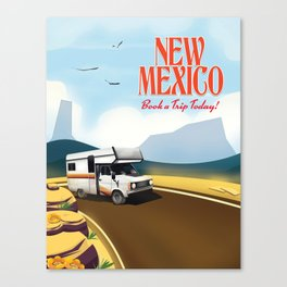 "New Mexico Travel poster. ""Book a trip today"" Canvas Print"