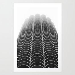 Foggy Chicago Morning 005 Art Print