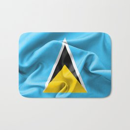 Saint Lucia Flag Bath Mat