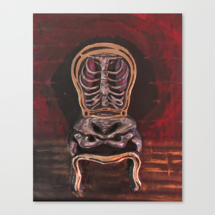 skeleton chair canvas print by jedwardneill society6