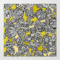 circles Canvas Prints featuring Circles by Valentina Harper