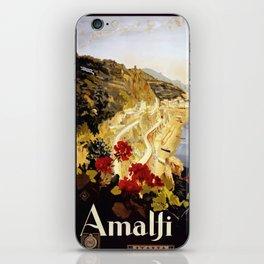 Vintage Italian 1930s Travel Poster- Amalfi Coast iPhone Skin