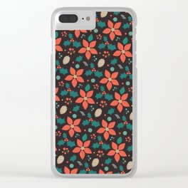 Deck the Halls - Black Background (Patterns Please) Clear iPhone Case