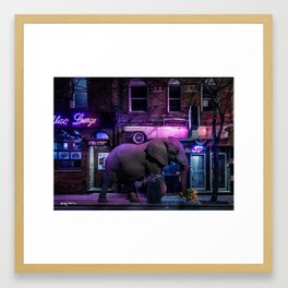 buying late night apologies Framed Art Print