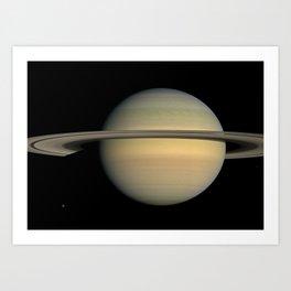 Space: Saturn, Voyager 1 Art Print