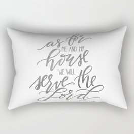 As For Me And My House Rectangular Pillow