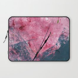 Orchid: a bright abstract mixed media piece in blue, pink, and, black Laptop Sleeve