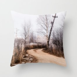 Winer in the country Throw Pillow