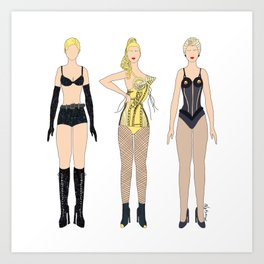 Triple Madge Blonde Girlie Ambition Art Print