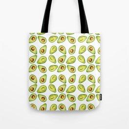 Watercolor Painting Green Avocado Pattern Tote Bag
