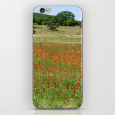 Poppies in Provence, France iPhone & iPod Skin